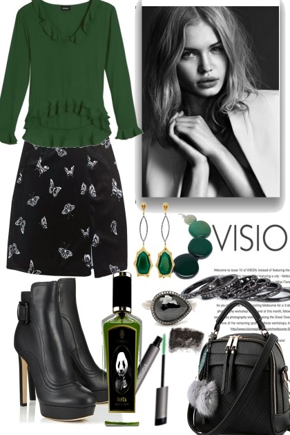 A little bit green- Fashion set