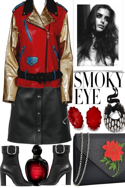 SMOKEY EYES, LET´S ROCK- Fashion set