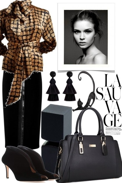 A LITTLE BIT ELEGANCE FOR LUNCH- Fashion set