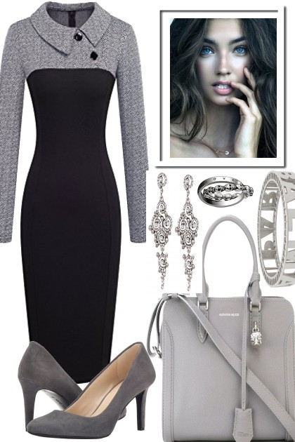 LOOK LOVELY IN GREY- Fashion set