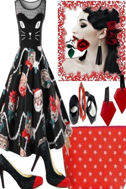 X-MAS CAT- Fashion set