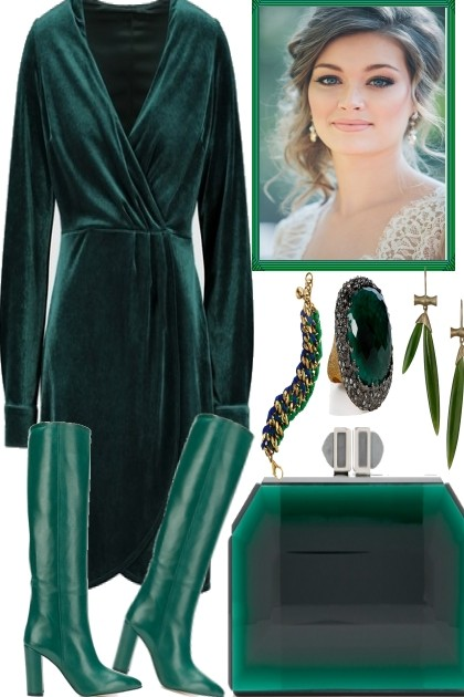 FALL INTO GREEN..- Fashion set