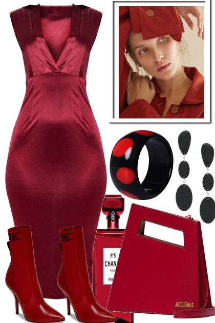 COCKTAILS IN RED- Fashion set