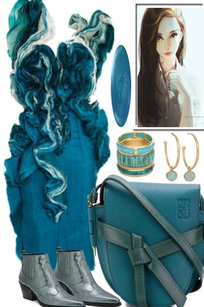 ELEGANT AQUA GIRL- Fashion set