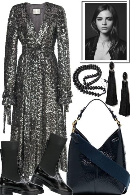 LET´S ROCK THE SILVER DRESS- Fashion set