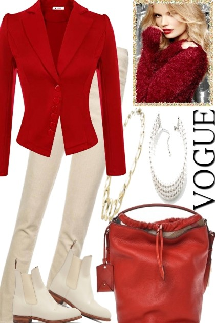 FOR WORK BIT RED- Fashion set