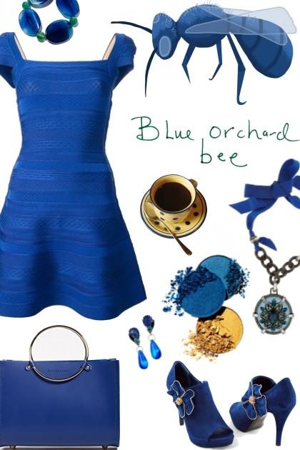 blue orchard bee- Combinaciónde moda