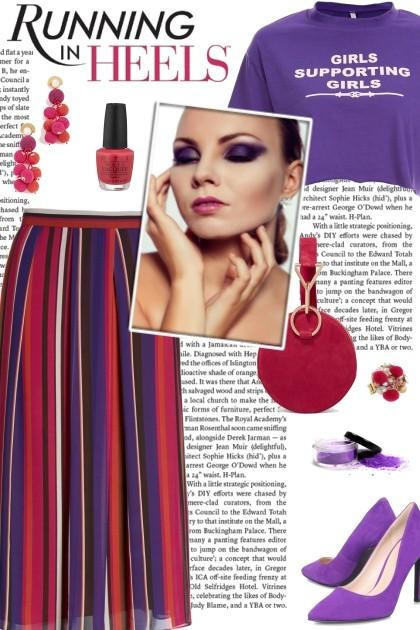 How to wear a Striped Midi Skirt!- Combinazione di moda
