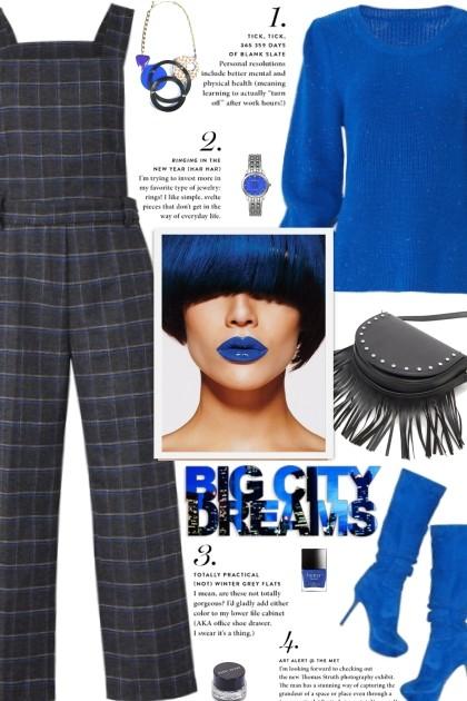 How to wear a Plaid Wool Overalls!- Modna kombinacija