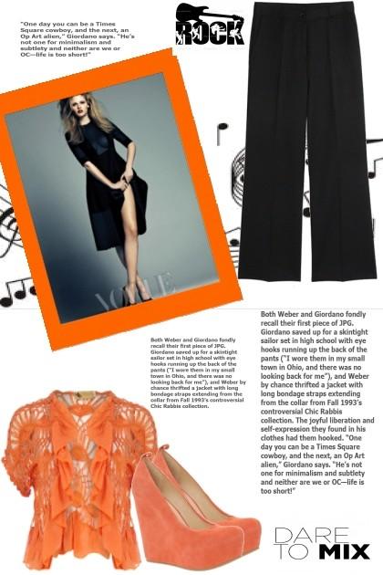 Orange, really?- Combinazione di moda