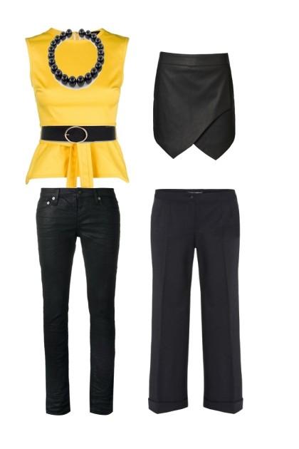 Желтая кофта- Fashion set