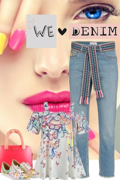 we <3 denim- Fashion set