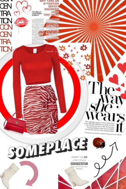 red all over- Fashion set