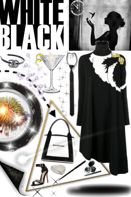 fireworks in black and white- Fashion set