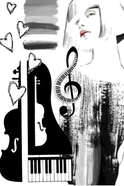 black n white music- Fashion set