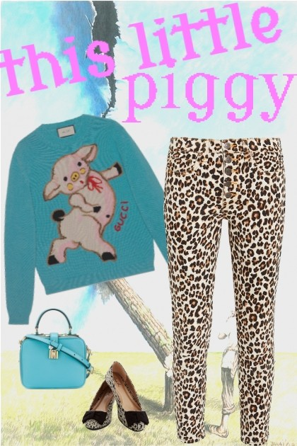 this little piggy- Fashion set