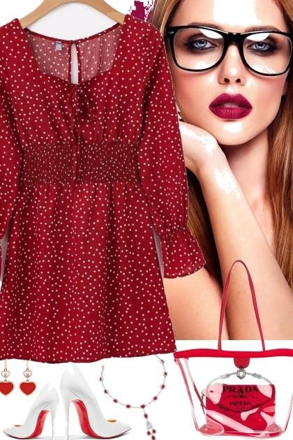 red dressed 4 valentines - Модное сочетание