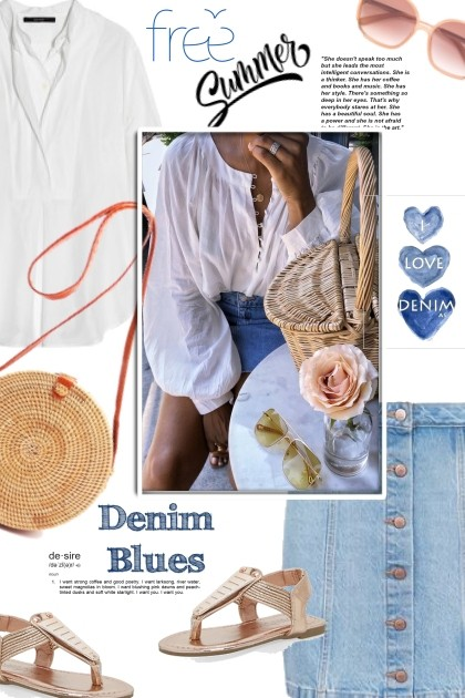Denim Blues in Summer- Fashion set