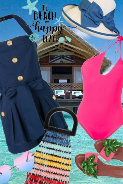 The Beach Is My Happy Place- Fashion set