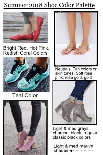 Summer 2018 Shoe Color Palette- Fashion set
