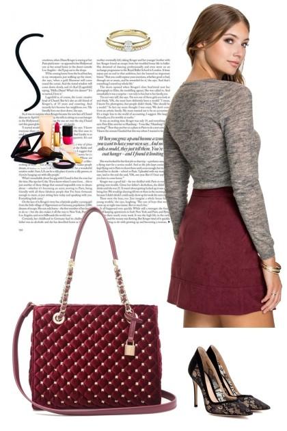 Scarlet Fashion Rhinestone - Modna kombinacija