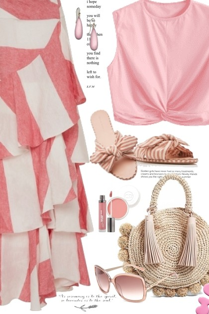 How To Wear Pink- Fashion set