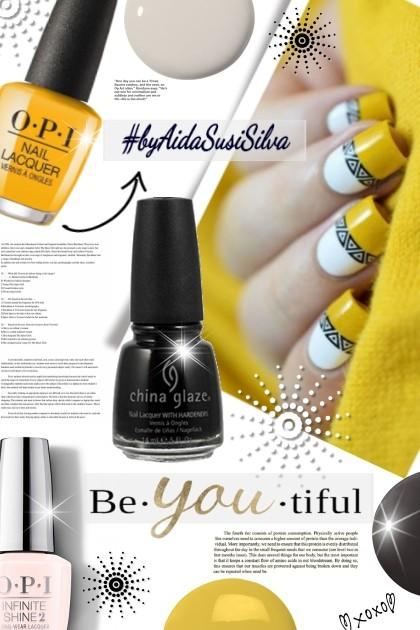 Beautiful Nails- combinação de moda