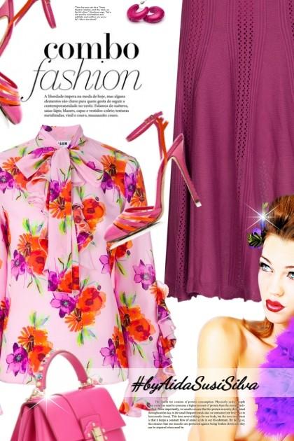 Lace Tie Blouse- combinação de moda
