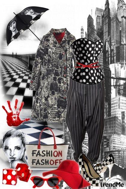 Black/white stile (red)- Fashion set