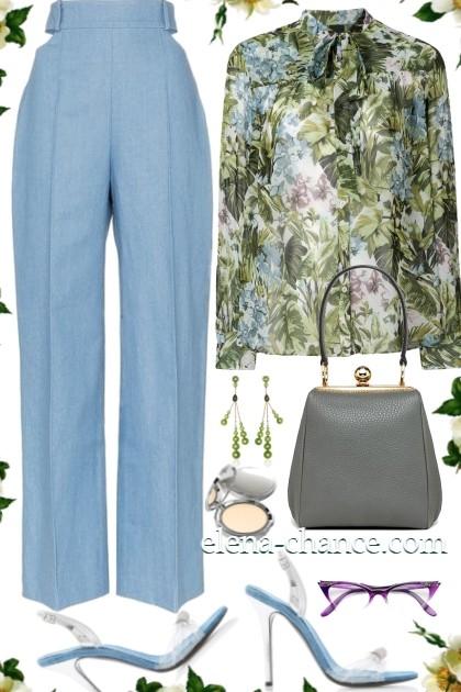 Зелно-голубое сочетание- Fashion set