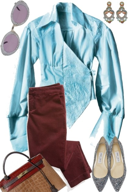 BLUE AND BROWN- Fashion set