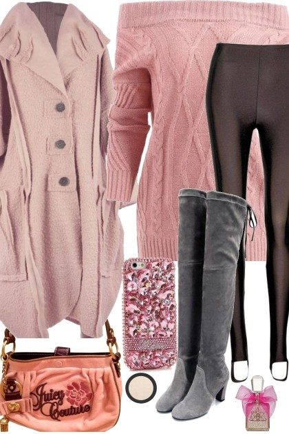 SWEATER OVER TIGHTS- Fashion set