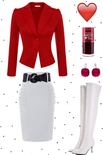 RED AND WHITE (c)- Fashion set