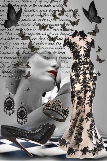 Black Butterfly- Fashion set