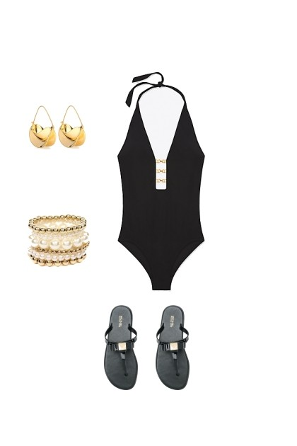 Black & Gold- Fashion set