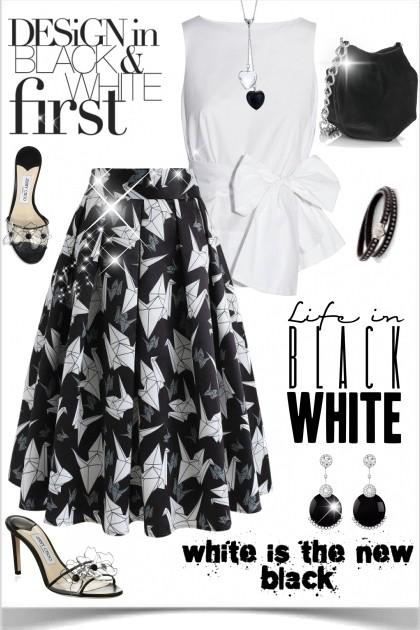 Black and White- Модное сочетание
