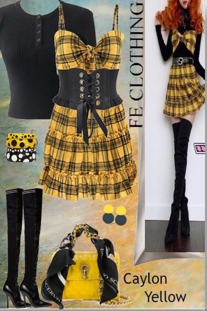 Casual Autumn Caylon Yellow- Fashion set