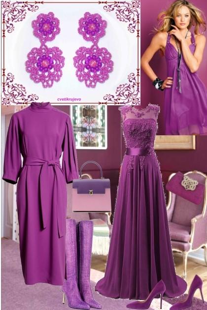 лиловый- Fashion set