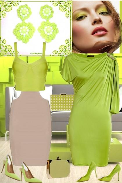 yellow green- Combinaciónde moda