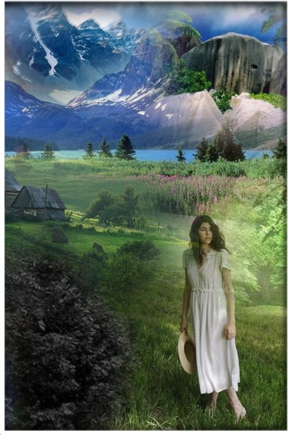 A meadow in the mountains- Fashion set