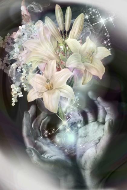 White lilies- Fashion set