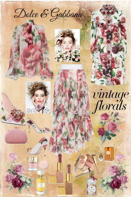Vintage Florals- Fashion set