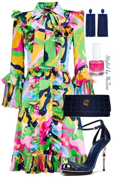 Beautiful Colors - Dress- Modna kombinacija