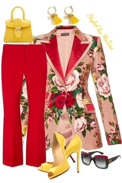 Floral Blazer Fab-ness- Modna kombinacija
