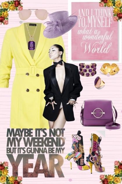 Yellow-purple madness- Fashion set