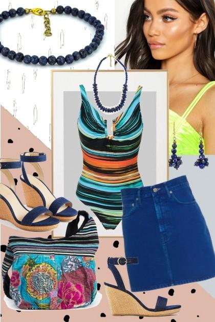 Blue langue- Fashion set