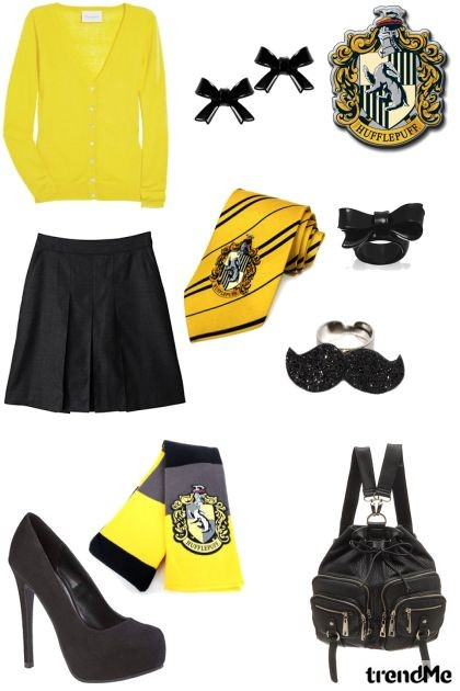 Hufflepuff - uniforme- Fashion set