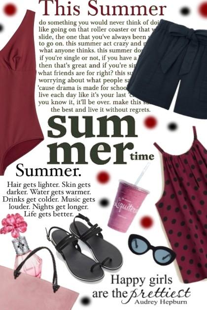 This summer- combinação de moda