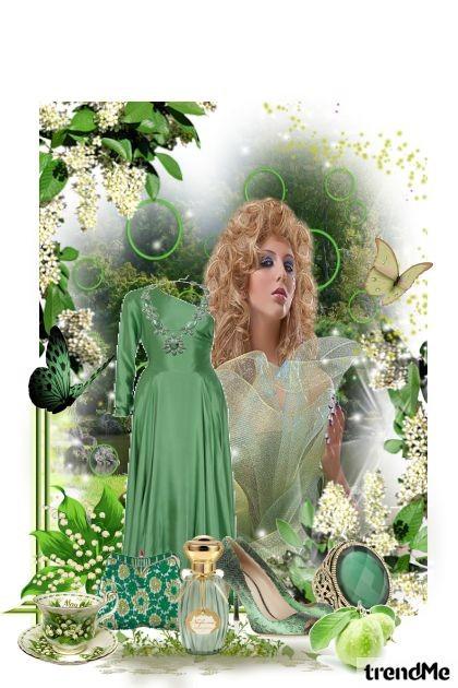 Green like a nature- Fashion set