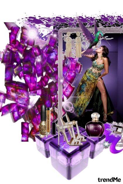 gold & violet - Fashion set